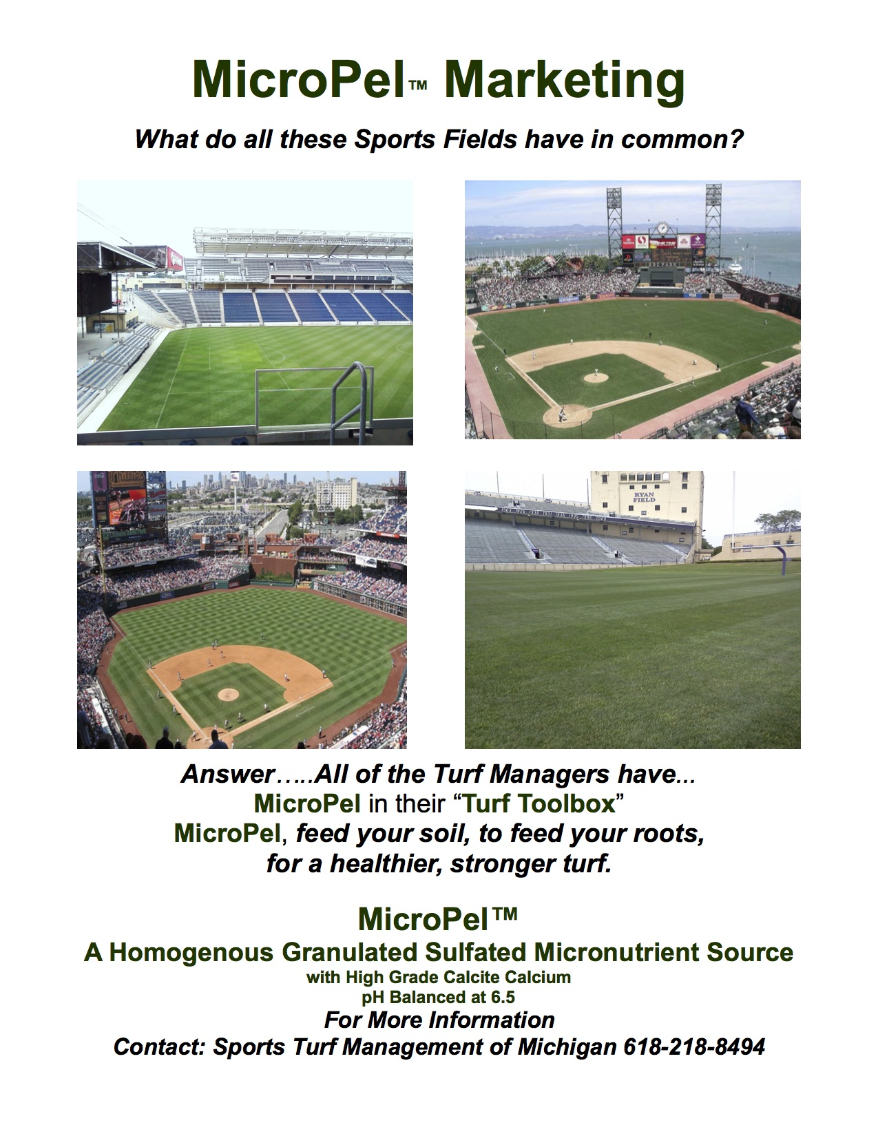 MicroPel Stadiums-CALL Sports Turf Management